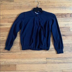 Navy blue cardigan soft and cozy